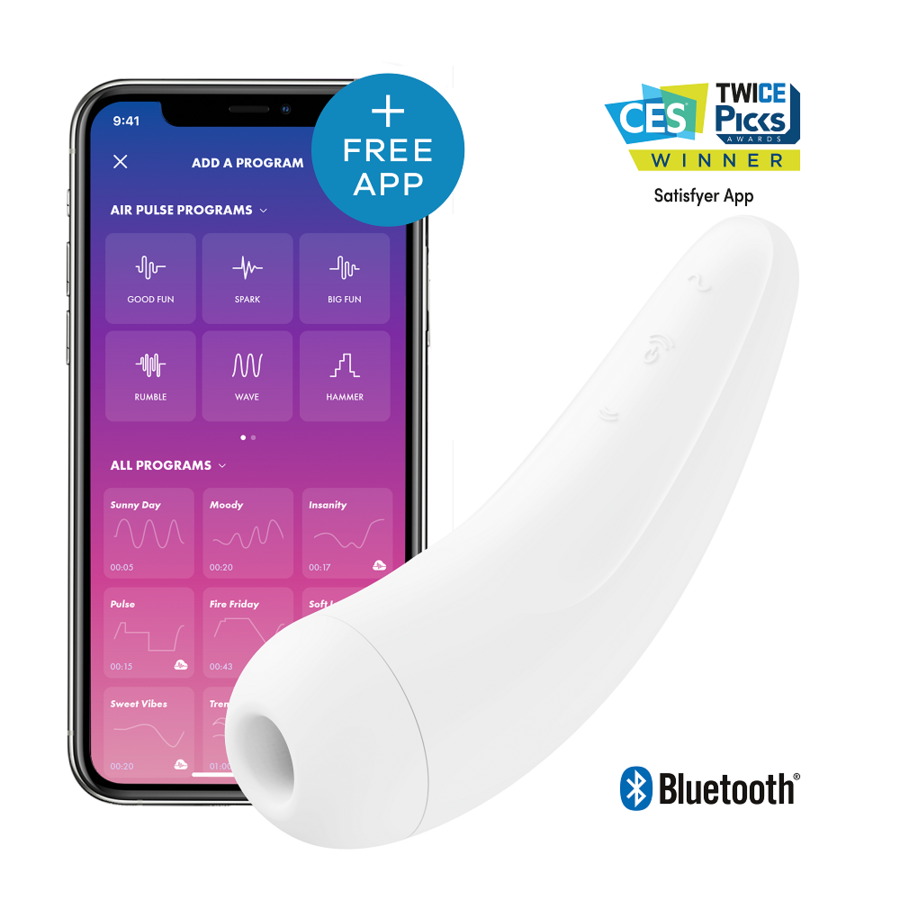 SATISFYER CURVY 2  + -  BLANCO